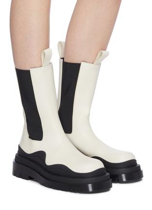 Figure View - Click To Enlarge - BOTTEGA VENETA - 'Tire' Platform Tread Sole Leather Chelsea Boots