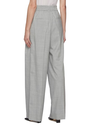 Back View - Click To Enlarge - BRUNELLO CUCINELLI - Elastic waist wool pants