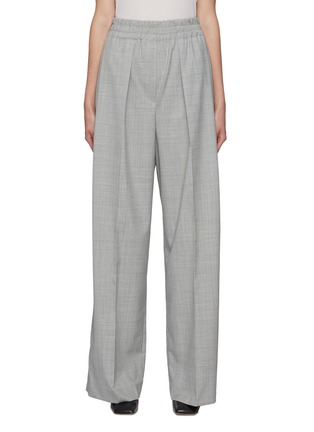 Main View - Click To Enlarge - BRUNELLO CUCINELLI - Elastic waist wool pants