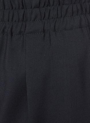 - BRUNELLO CUCINELLI - Elastic waist canvas wool blend pants