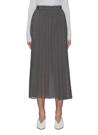 Main View - Click To Enlarge - BRUNELLO CUCINELLI - Pleated gauze maxi skirt