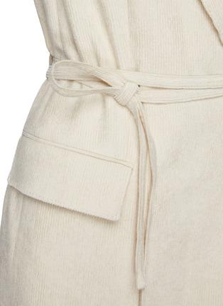 - BRUNELLO CUCINELLI - Belted single button corduroy blazer