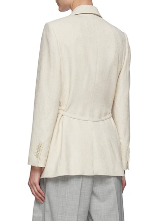 Back View - Click To Enlarge - BRUNELLO CUCINELLI - Belted single button corduroy blazer