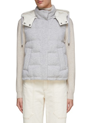 Main View - Click To Enlarge - BRUNELLO CUCINELLI - Padded puffer vest