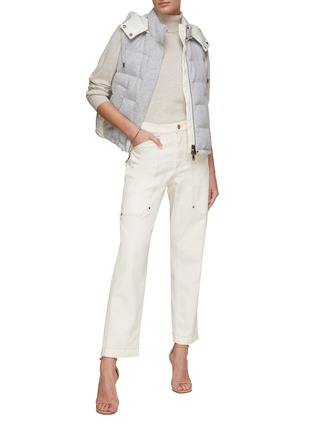 Figure View - Click To Enlarge - BRUNELLO CUCINELLI - Padded puffer vest