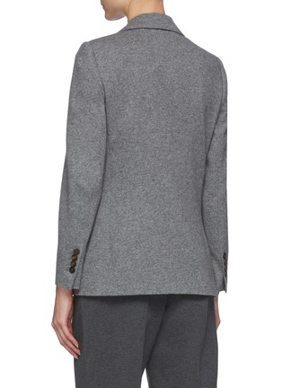 Back View - Click To Enlarge - BRUNELLO CUCINELLI - Double breast cashmere blazer