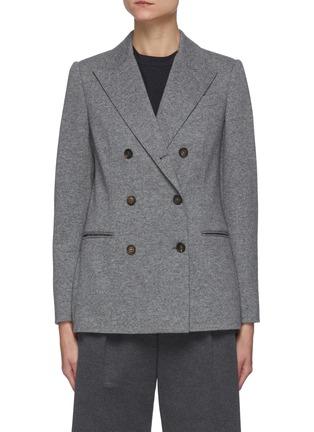 Main View - Click To Enlarge - BRUNELLO CUCINELLI - Double breast cashmere blazer