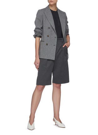 Figure View - Click To Enlarge - BRUNELLO CUCINELLI - Double breast cashmere blazer