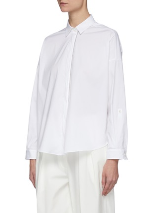 Detail View - Click To Enlarge - BRUNELLO CUCINELLI - Stretch poplin tailored shirt