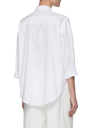 Back View - Click To Enlarge - BRUNELLO CUCINELLI - Stretch poplin tailored shirt