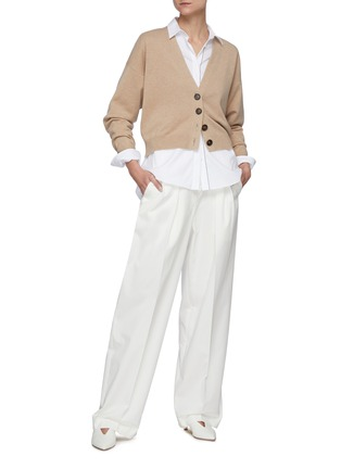 Figure View - Click To Enlarge - BRUNELLO CUCINELLI - Stretch poplin tailored shirt