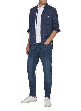 Figure View - Click To Enlarge - RAG & BONE - 'Fit 2' Mid Rise Whiskered Denim Jeans