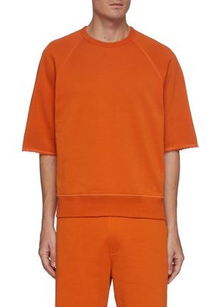 Main View - Click To Enlarge - RAG & BONE - 'Driscoll' Frayed Edge Cotton Raglan T-shirt