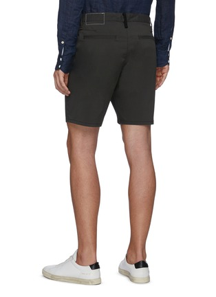 Back View - Click To Enlarge - RAG & BONE - 'Paperweight' Back Contrast Stitch Detail Chino Shorts
