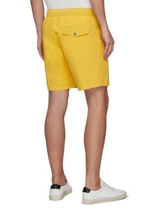 Back View - Click To Enlarge - RAG & BONE - 'Eaton' Elastic Waist Nylon Cotton Blend Shorts