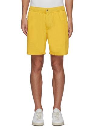 Main View - Click To Enlarge - RAG & BONE - 'Eaton' Elastic Waist Nylon Cotton Blend Shorts