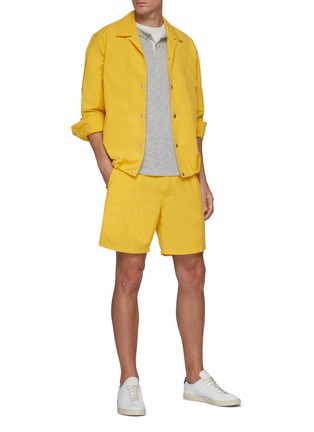 Figure View - Click To Enlarge - RAG & BONE - 'Eaton' Elastic Waist Nylon Cotton Blend Shorts