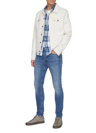 Figure View - Click To Enlarge - RAG & BONE - Fit 1 Hemp blend' ripped skinny jeans
