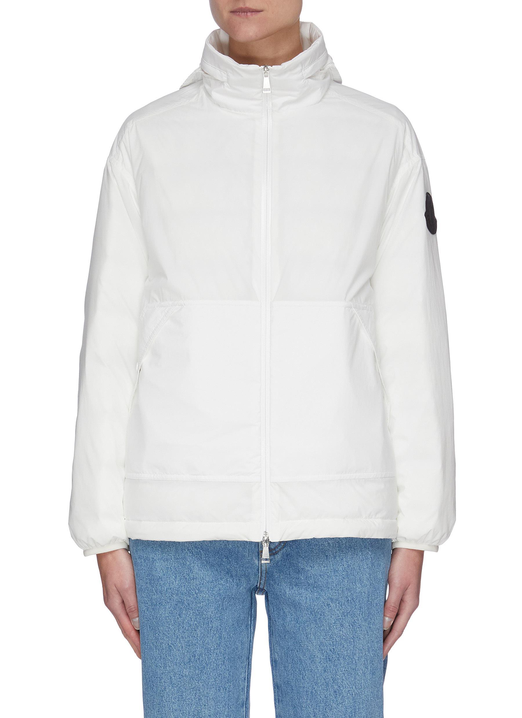 Menchib' Back Logo Hood Down Jacket