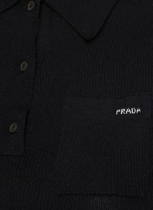 - PRADA - Mid Sleeve Cashmere Blend Polo Shirt