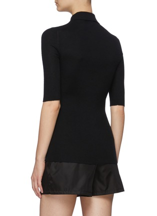 Back View - Click To Enlarge - PRADA - Mid Sleeve Cashmere Blend Polo Shirt