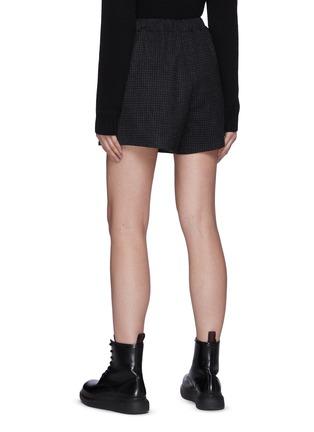 Back View - Click To Enlarge - PRADA - Checked Wool Shorts