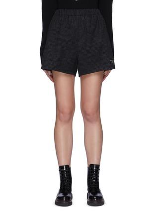 Main View - Click To Enlarge - PRADA - Checked Wool Shorts