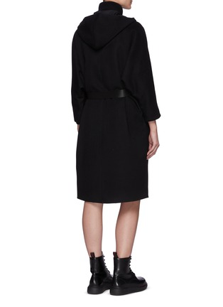 Back View - Click To Enlarge - PRADA - Re-Nylon Reversible Belted Hooded Coat