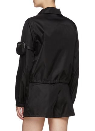 Back View - Click To Enlarge - PRADA - Zipped Re-Nylon Jacket with Sleeve Pouch