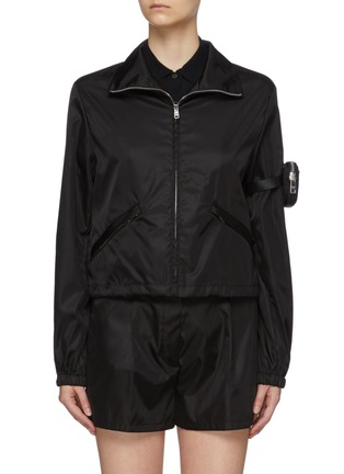 Main View - Click To Enlarge - PRADA - Zipped Re-Nylon Jacket with Sleeve Pouch