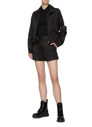 Figure View - Click To Enlarge - PRADA - Zipped Re-Nylon Jacket with Sleeve Pouch