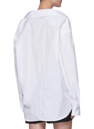Back View - Click To Enlarge - PRADA - Cotton Poplin Shirt With Nylon Straps