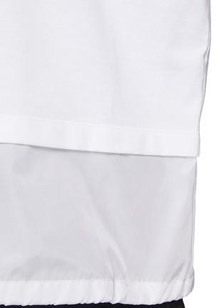 - PRADA - Logo Print Nylon Hem Insert T-shirt