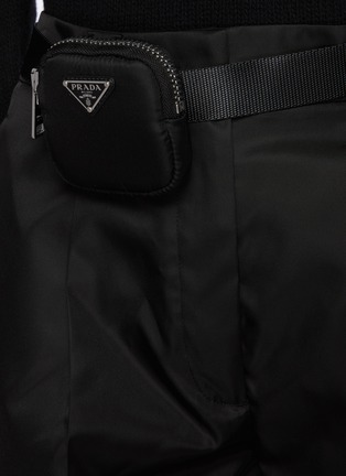 - PRADA - Belted Front Pleat Re-Nylon Shorts with Waist Pouch