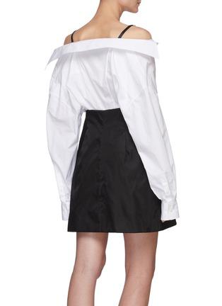 Back View - Click To Enlarge - PRADA - Off-shoulder shirt dress