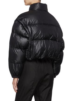 Back View - Click To Enlarge - PRADA - Triangular Logo Plaque Puffer Down Jacket
