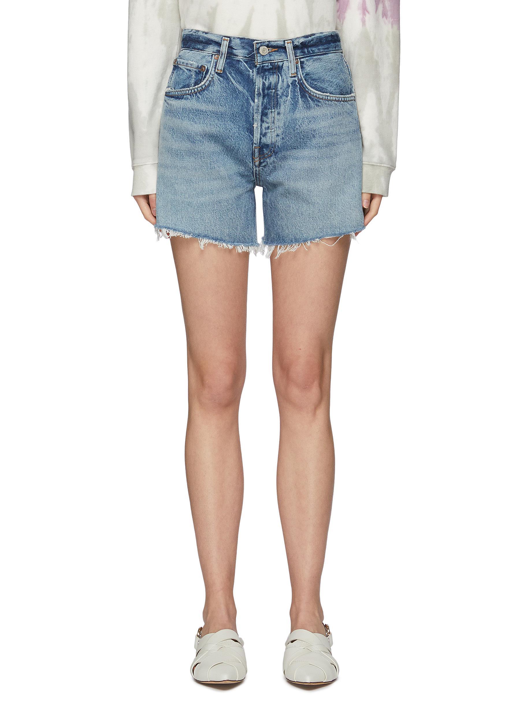 'Riley' Fray Hem Denim Shorts