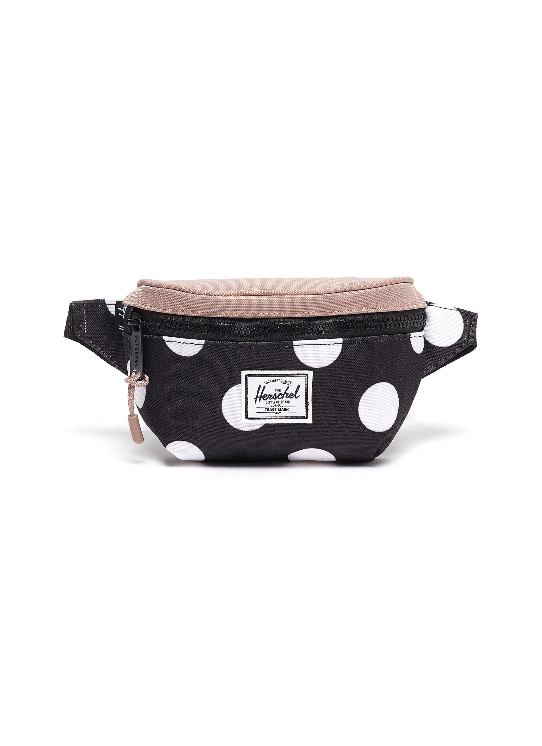 "Twelve' Polka Dot Print Contrast Panel Kids Canvas Belt Bag"" - THE HERSCHEL SUPPLY CO. - Modalova"