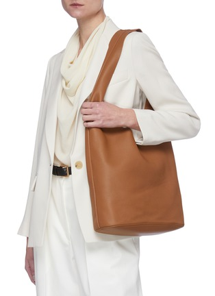 Figure View - Click To Enlarge - THE ROW - 'Bindle' leather bag