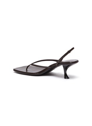 - THE ROW - 'Constance' Sculpted Heel Strappy Thong Slingback Leather Sandals