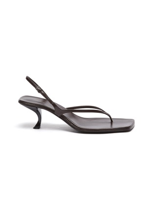 Main View - Click To Enlarge - THE ROW - 'Constance' Sculpted Heel Strappy Thong Slingback Leather Sandals