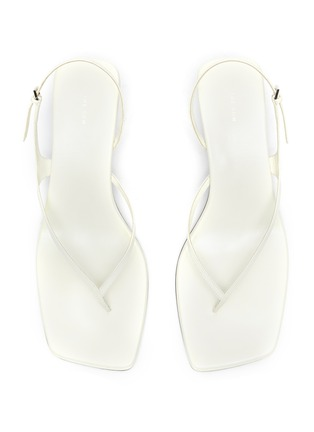 Detail View - Click To Enlarge - THE ROW - 'Constance' thong leather sandals
