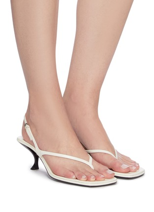 Figure View - Click To Enlarge - THE ROW - 'Constance' thong leather sandals