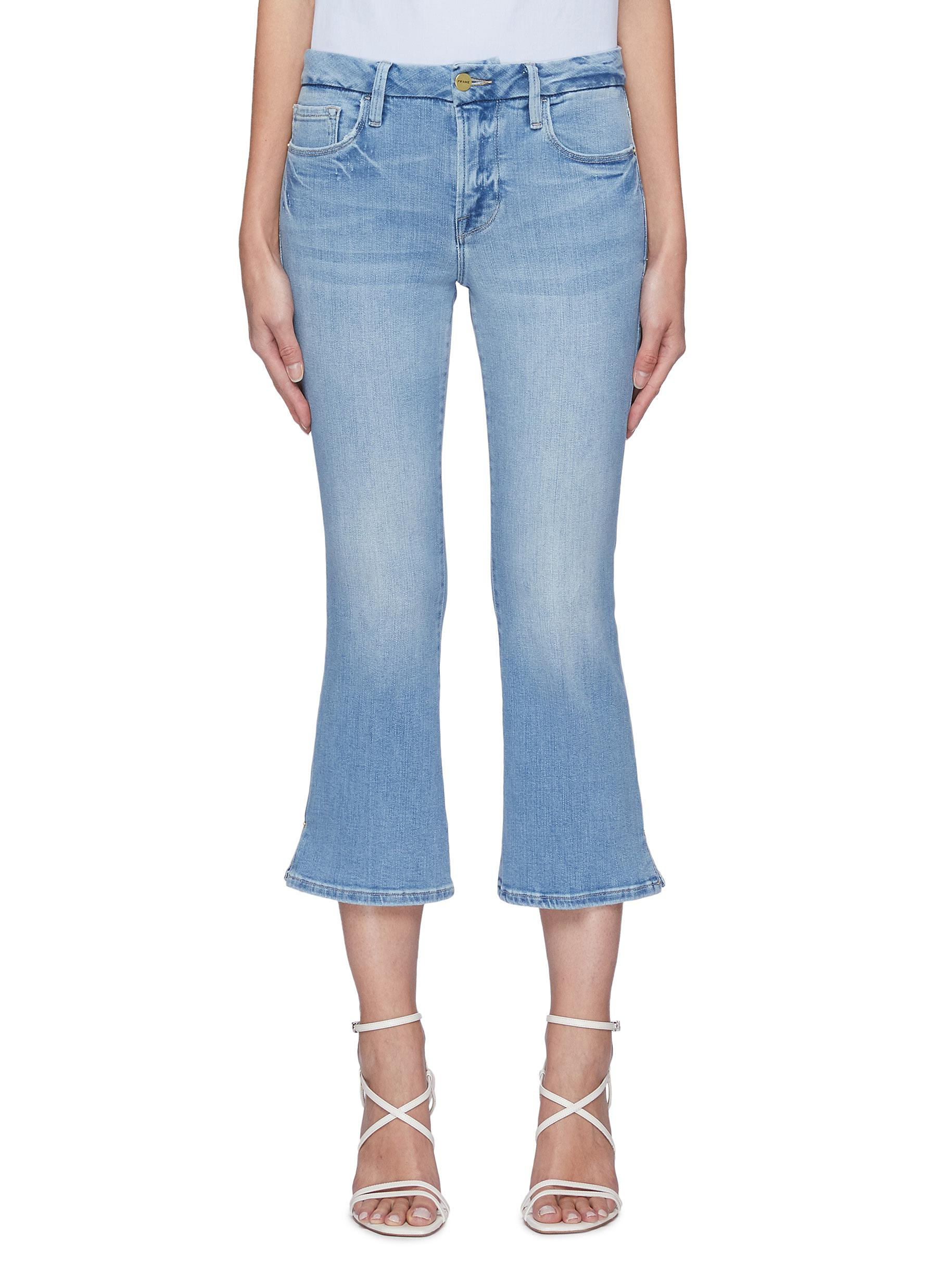 'Le Pixie Crop' flared jeans