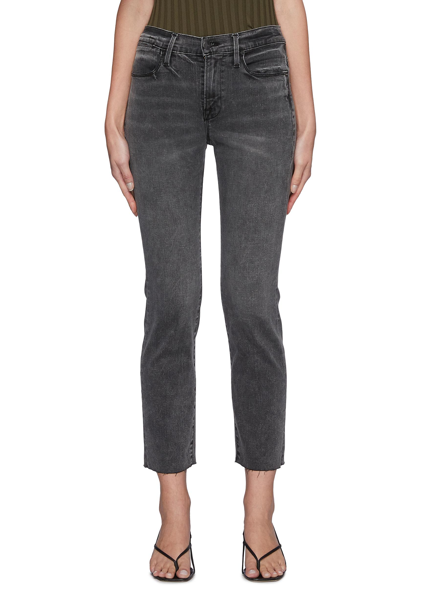 Le High Straight' cut out back pocket jeans