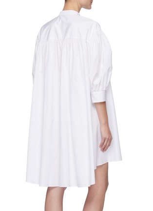 Back View - Click To Enlarge - ALEXANDER MCQUEEN - Cotton poplin shirt dress