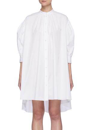 Main View - Click To Enlarge - ALEXANDER MCQUEEN - Cotton poplin shirt dress