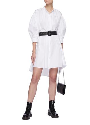 Figure View - Click To Enlarge - ALEXANDER MCQUEEN - Cotton poplin shirt dress