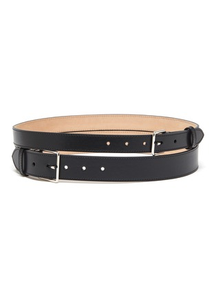 Main View - Click To Enlarge - ALEXANDER MCQUEEN - Double strap leather belt