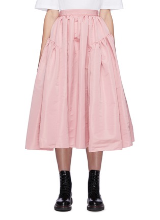 Main View - Click To Enlarge - ALEXANDER MCQUEEN - Gathered puff maxi skirt